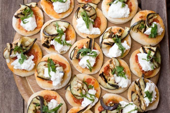 Ricetta Pizzette con ricotta melanzane grigliate e menta - Le Ricette di Chezuppa!