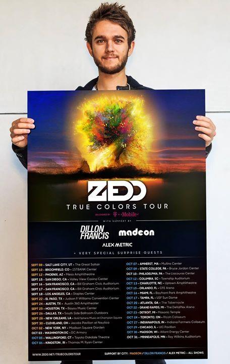 Zedd 2015 tour dates
