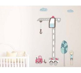 Crane Height Chart wall sticker available at www.kidzdecor.co.za. Free postage throughout South Africa
