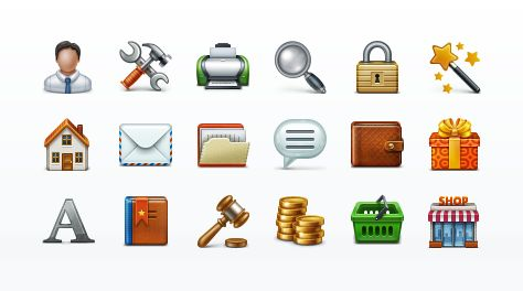 Application Toolbar #icons by webiconset.com