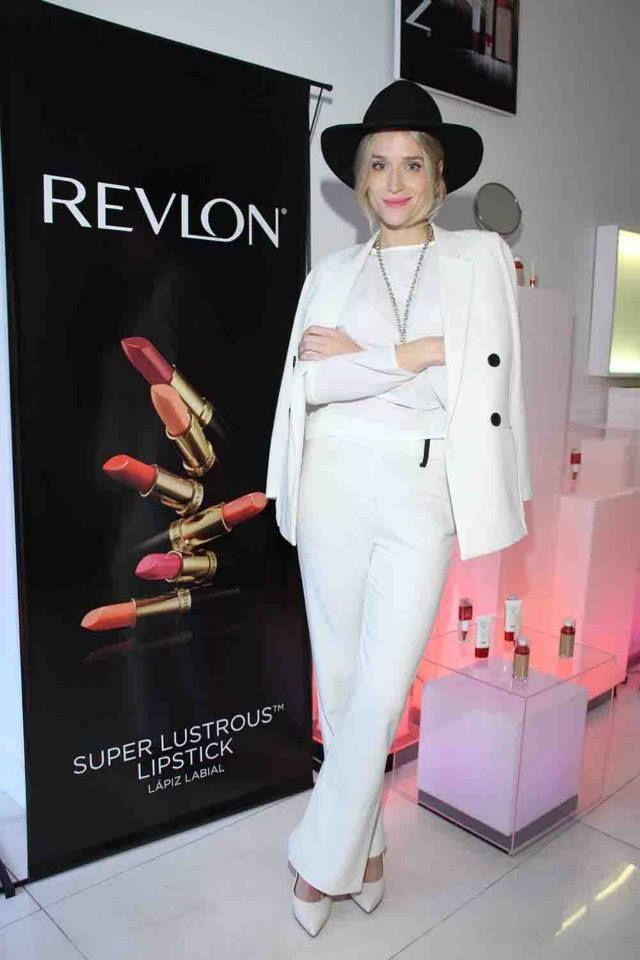 Brenda Gandini en el evento de Revlon para presentar sus últimos lanzamientos.