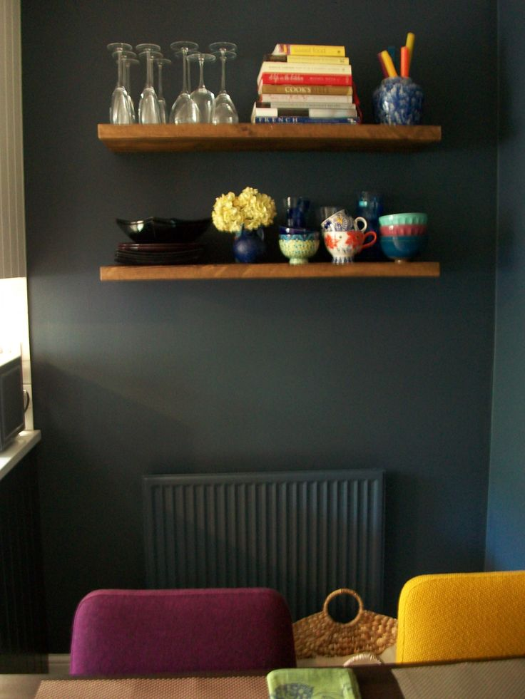 Dark Grey Inky Blue By Valspar Paint In Kitchen Moody