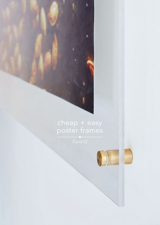 DIY cheap + easy poster frames