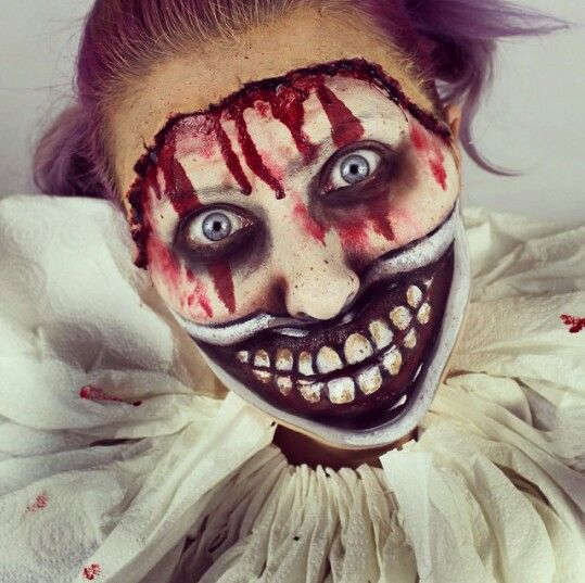 Sfx Scary Clown Makeup Ideas Art Major
