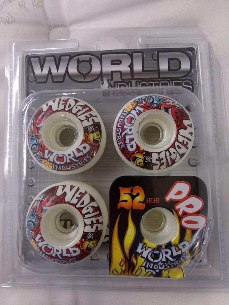 WORLD INDUSTRIES Skateboard Wheels WET WILLY CORP 52mm #WORLDINDUSTRIES #skateboard #eBay