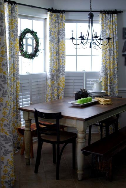 turning tablecloths into curtains just bought some at target including these grey
