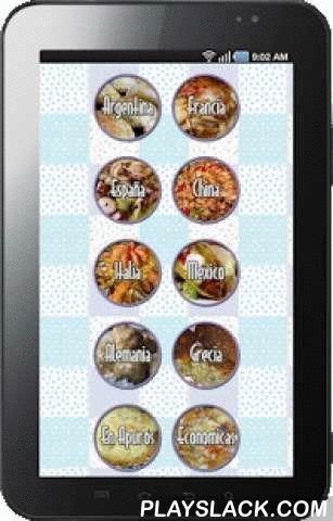 Recetas Recipes  Android App - playslack.com , RECETAS REGIONALESCarnes, Empanadas, Estofados y Guisos RECETAS FRANCESASComidas elaboradas, se destacan por su sabor y aroma.RECETAS ESPAÑOLASPrincipalmente encontramos variedad de Paellas y Cazuelas.RECETAS CHINASComidas ricas y saludables a base de Arroz, Fideos, Carnes y Verduras.RECETAS ITALIANASSe destacan las Pastas caseras, rellenas o acompañadas de Mariscos. RECETAS MEXICANASComidas picantes, Tacos, Quesadillas, Nachos y otras recetas…