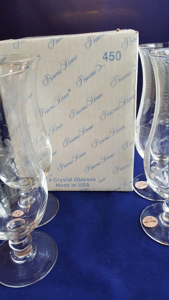 Hurricane Glasses 14 oz. Princess House Glass by AmazingFunVintage