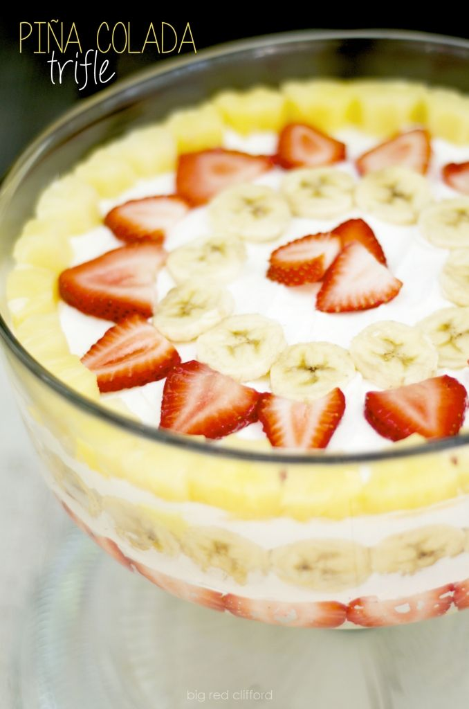 pina colada coconut trifle dessert recipe - might be the yummiest I've had!