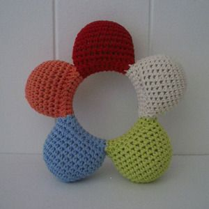 Diy Free Crochet Pattern For Baby Rattles : 13 best images about Crochet Baby Rattles on Pinterest ...