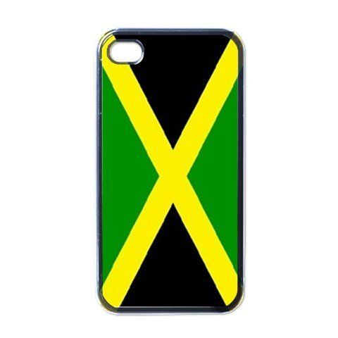 "Jamaica Flag Black iPhone 5 Case. This Case is Made of High Grade Black Gloss Plastic - Very Durable and Lightweight. Precision Molded Case Perfectly Fits All iPhone 5 - No Matter What Service Provider You Are With. iPhone 5 Case Measures 4.87"" x 2.37"" - This gloss black frame provides great protection to all iPhone 5 models for every cellular service. Image is Imprinted in the USA! Colors will not fade or discolor over time. Makes a great gift for anyone with an iPhone 5."