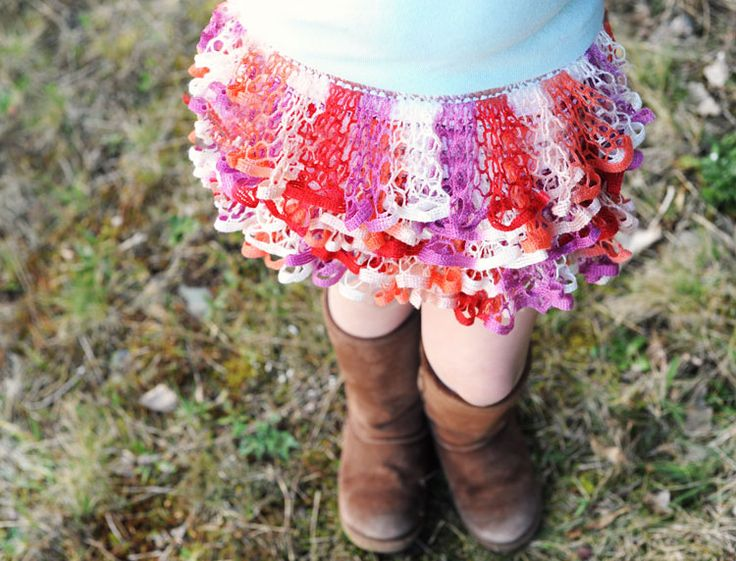 How to Knit a Starbella Ruffle Skirt via @Ben Franklin Crafts & Frame Shop