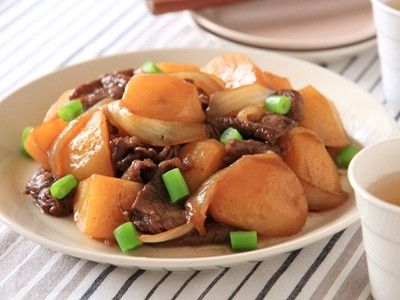 フライパンで簡単15分レシピ ソース肉じゃが
