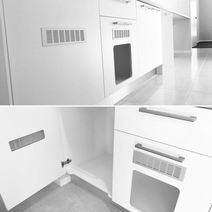 Pet lovers will love this! Our wonderful clients recently designed their laundry to include a ventilated, kittylitter zone for their beloved pets.