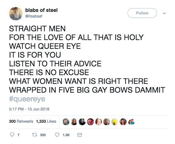 """19 Tweets über """"Queer Eye"""", die Sie zum Lachen bringen"""