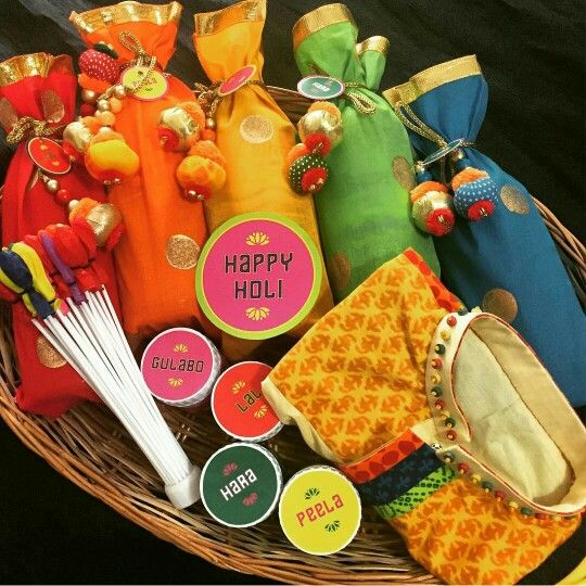 Customized Holi Hampers At Wrap A Smile ! A Colorful Hamper Defining This  Bright Joyful Festival! ORDER Your Customizu2026 | Wrap A Smile By Shreya Ahuja  !