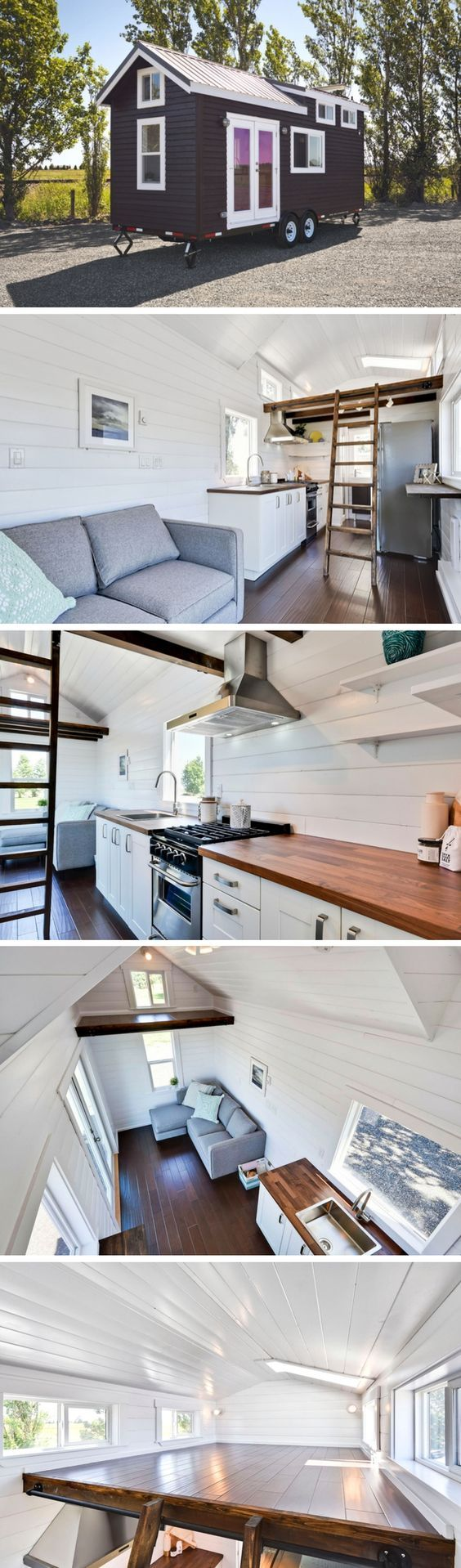 Just Wahls, a 204 sq ft tiny house by the Mint Tiny House Company