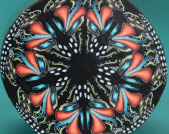 HALF PRICE SALE Polymer Clay Kaleidoscope Cane- 'Wishful Thinking' series (33A)