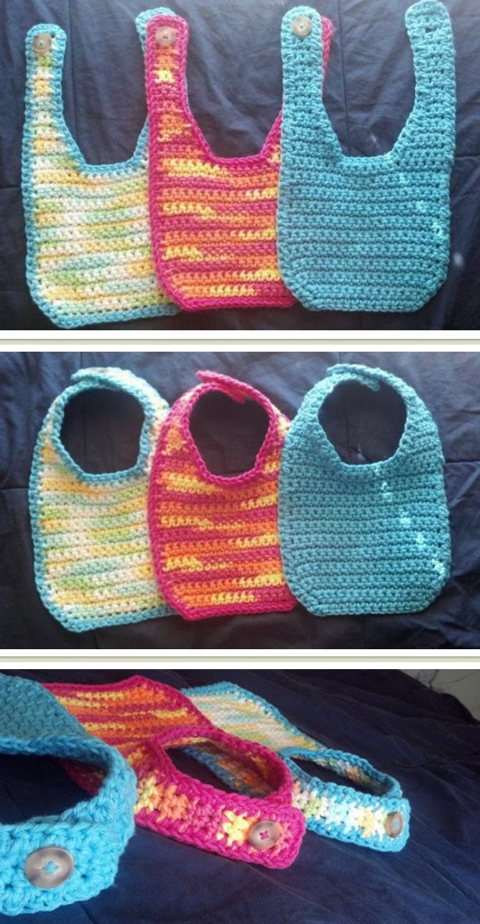 Crochet Baby Bib Pattern Free Video And Tutorials