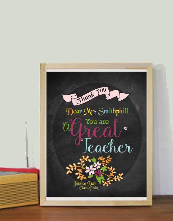 Unique Teacher Gift Teacher Gifts Teacher by DaniJArts on Etsy