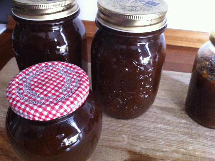 Marmelade med æbler og svesker