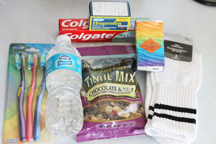"""""""On the Go Bags"""" - Items to hand to the homeless that will make their lives just a little easier."""