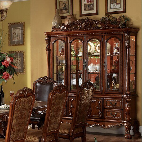 Welliver Lighted China Cabinet In 2020 Formal Dining Room Sets China Cabinet Acme Furniture