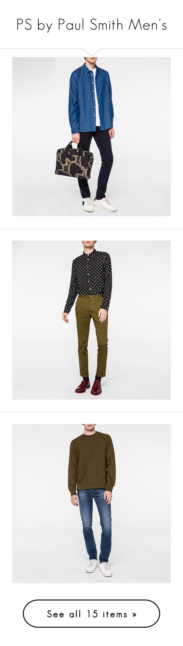"""""""PS by Paul Smith Men's"""" by paulsmith ❤ liked on Polyvore featuring men's fashion, men's clothing, men's shirts, men's casual shirts, paul smith mens shirt, mens woven shirts, mens print shirts, mens polka dot shirt, mens spotty shirt and mens rayon shirts"""