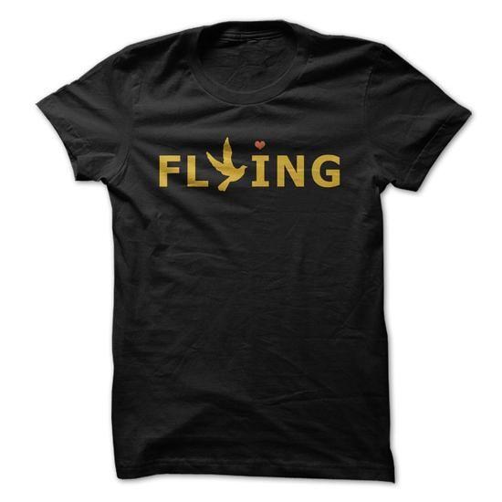 Awesome Tee I Love Flying Shirts; Tees