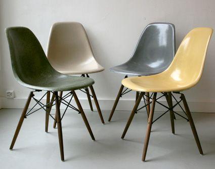 126 best images about charles eames on pinterest eero saarinen eames chair - Chaise eames dsw fibre de verre ...