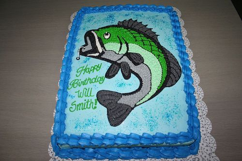 Bass Fishing Cake