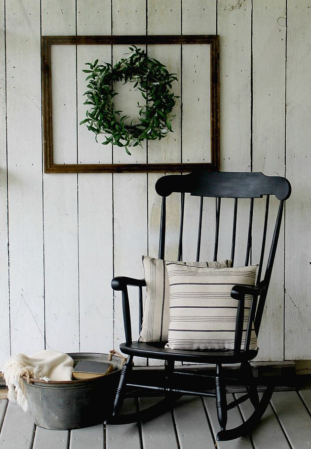 Get the Fixer Upper Look from Rust and Relics LLC with this Farmhouse Style Rocking Chair!! www.rustandrelics.net