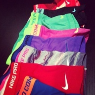 Nike compression shorts -one in every color, please.
