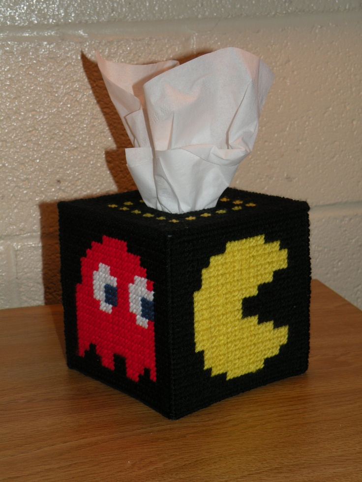 PacMan Tissue Box Cover  Shipping Now by GeoDecoStudio on Etsy, $29.99