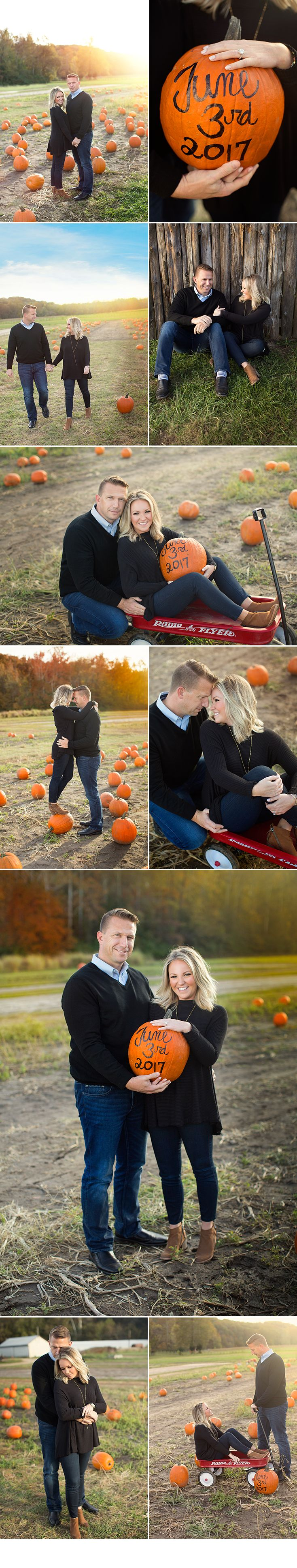 d-Squared Designs St. Louis, Missouri Engagement Photography. Fall engagement session, Pumpkin patch, save the date.