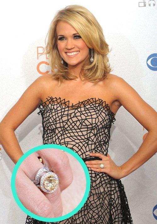Carrie Underwood wedding ring (and hair!)