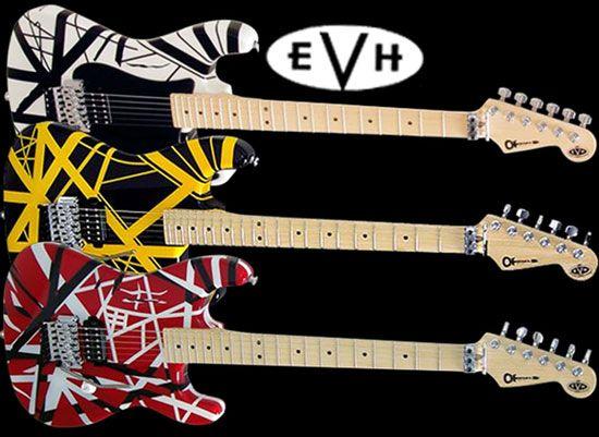 Three Stripes Electric GuitarsEddie Van HalenFamous
