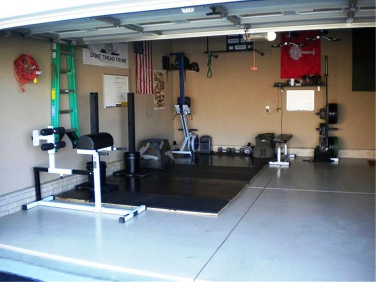 Best garage gym design images on pinterest