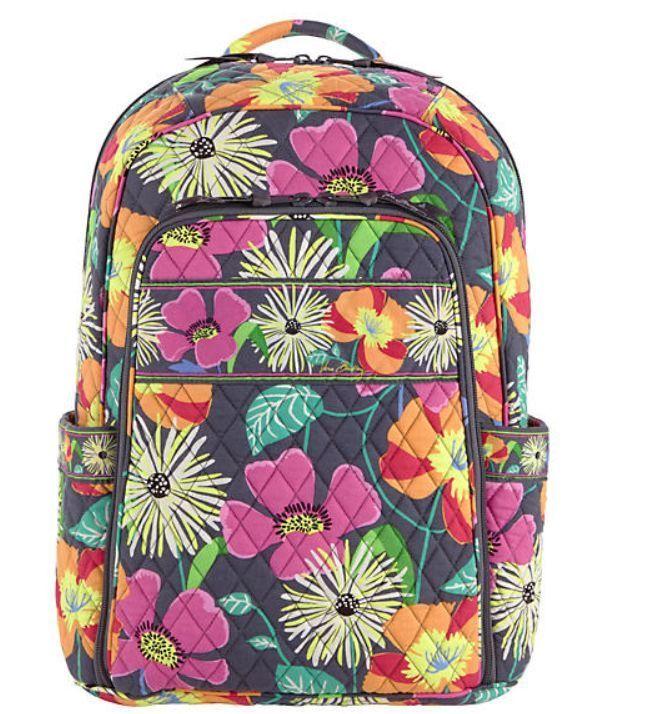 Vera Bradley Laptop Backpack Jazzy Blooms 12748-138