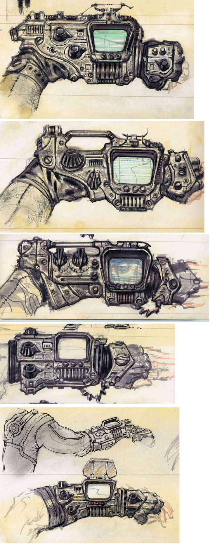 Fallout 3 miscellaneous items concept art
