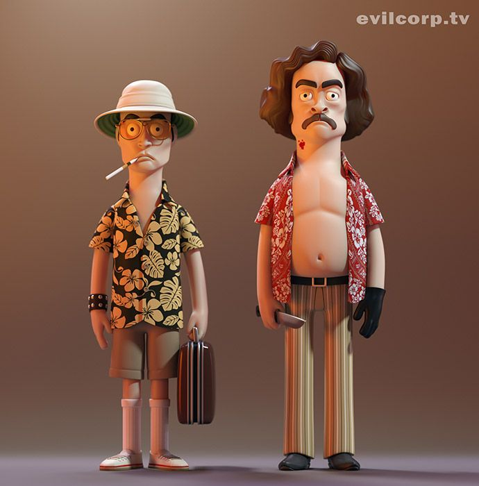 Fear and Loathing Vinyl Idols by Evil Corp - Evilcorp.TV