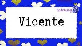 El nombre de niño Vicente es de origen Latino y su significado es 'El que ha vencido'.
