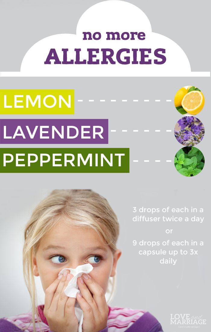 Kick your allergies with the essential oil combo of lemon, lavender and peppermint -- affectionately known as LLP.