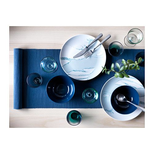 BEHAGA Plate IKEA Dinnerware with a modern and playful pattern inspired by the fashion world and nature.