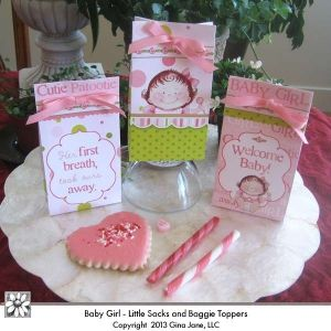 baby girl baby shower favor bags do it yourself diy printables for