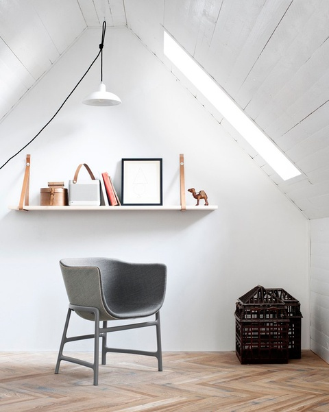 The minuscule chair by Danish designer Cecilie Manz debuted at the Salone in April 2012. Photo courtesy Republic of Fritz Hansen.: Fritz Hansen, Attic Spaces, Chairs, Interiors, Design Bedrooms, Quiet Places, Reading Nooks, Attic Room, Cecily Manz
