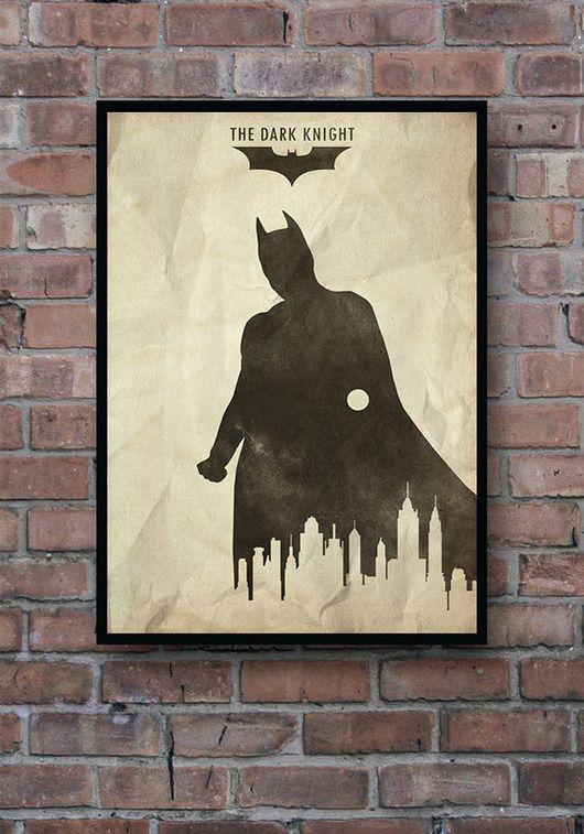 dodatki - plakaty, ilustracje, obrazy - grafika-The Dark Knight - Batman - plakat
