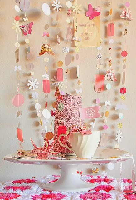 decoration in pink
