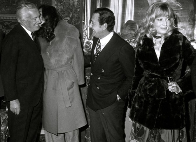 Vittorio De Sica, Florinda Bolkan, Alberto Sordi e Monica Vitti