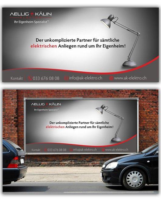Plakatdesign f眉r eine Elektroinstallation-Unternehmen by R A Y A ™